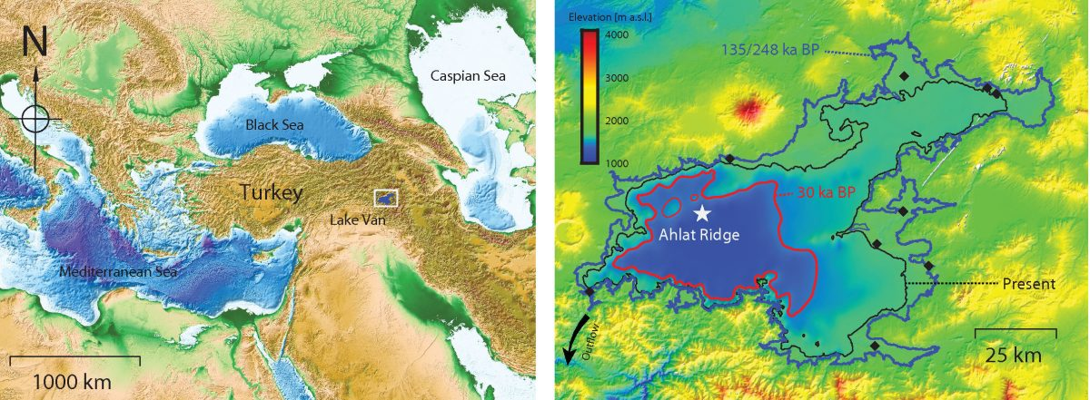 Paper on the past lake-level changes in Lake Van (Turkey)