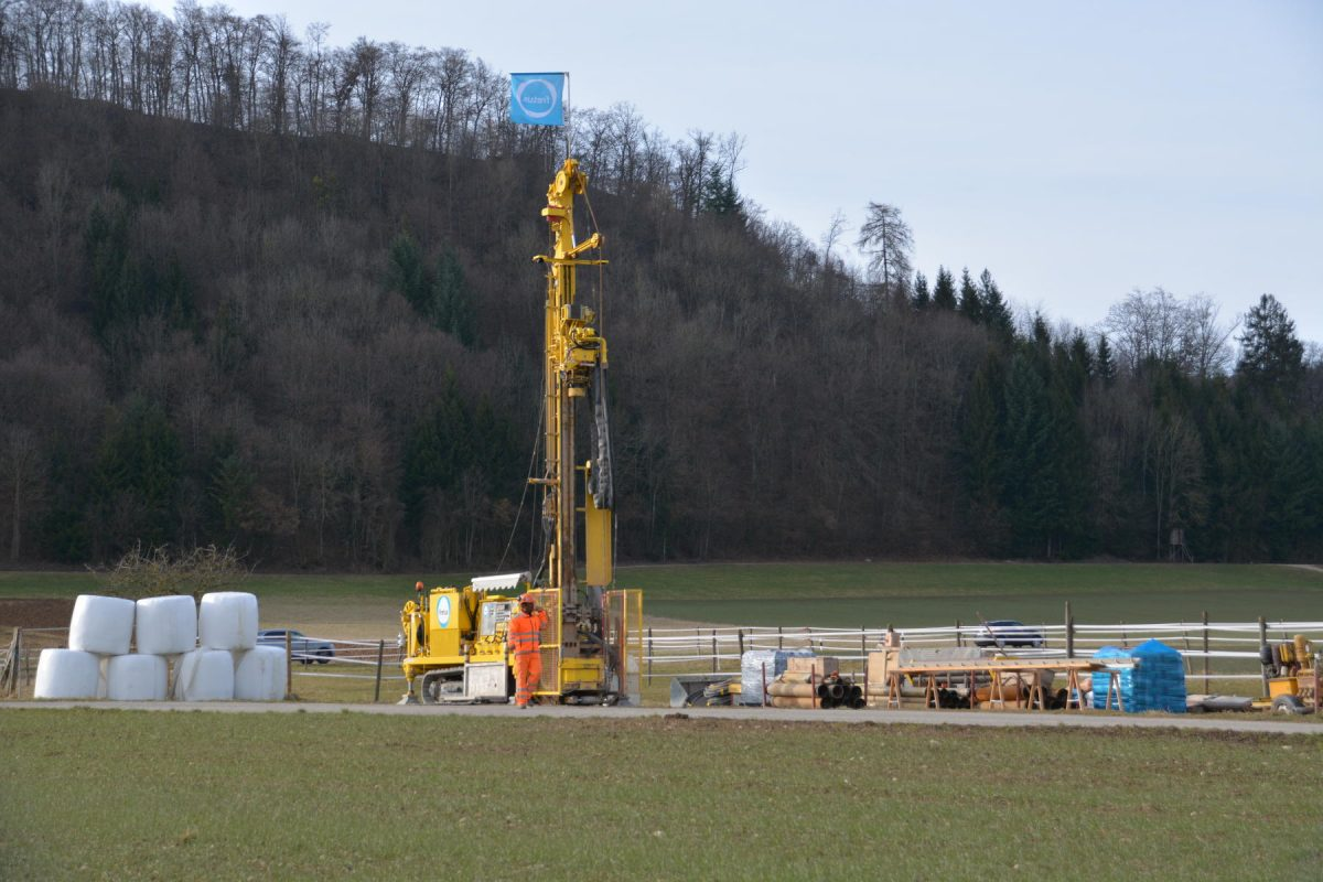 Quaternary drilling in Riniken