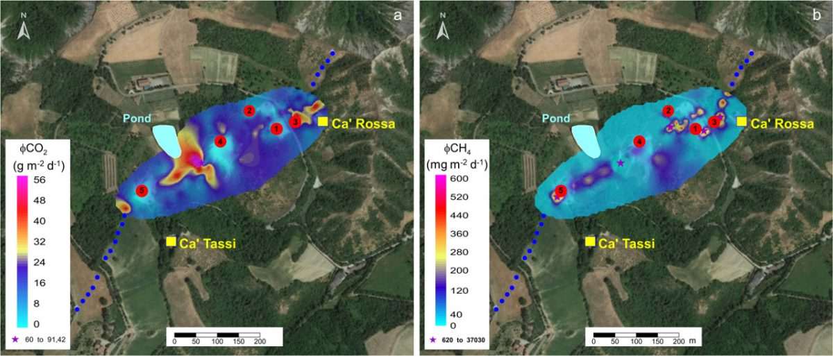 Article on the Geochemical characterization of the Nirano mud volcano, Italy
